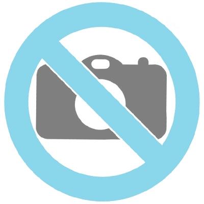 Halsband 'Dubbel hjärta' i 14k guld (fram vitt zirkonia, bak svart zirkonia)